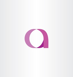 pink purple letter a icon symbol vector image