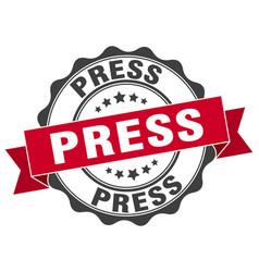 Press stamp sign seal vector