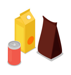 Product package isometric 3d icon vector