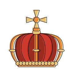 queen crown with cross vector image