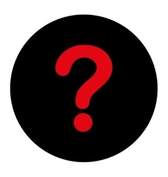 Question flat intensive red and black colors round vector