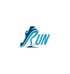 R for run logo running logo template vector
