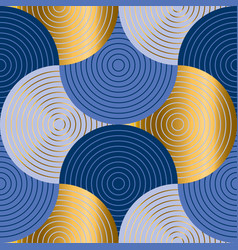 retro sea water abstract geometry seemless pattern vector image