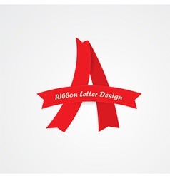 ribbon A letter vector image