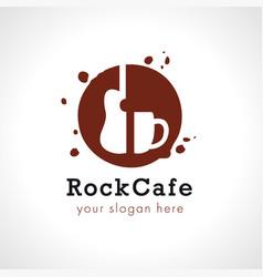 rock cup coffee logo vector image