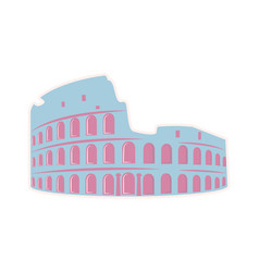 roman colosseum theater travel sticker isolated vector image