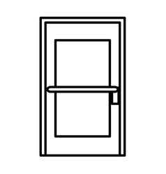 Room door isolated icon vector