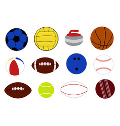 Set of different game balls vector