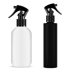 Spray bottle trigger cosmetic pistol sprayer box vector