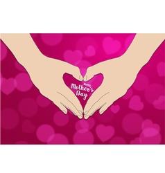 The hand make heart shape vector