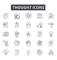 thought line icons for web and mobile design vector image