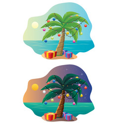 tropical christmas tree vector image