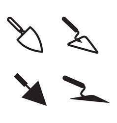 trowel icon set isolated vector image