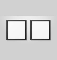 two realistic modern interior black blank vector image