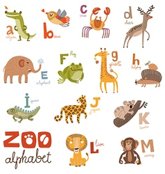 Zoo Abc vector