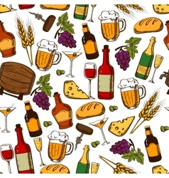 Alcoholic drinks and cocktails seamless pattern vector image vector image