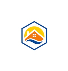house roof icon abstract protection logo vector image vector image