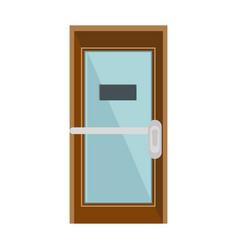 office door isolated vector image