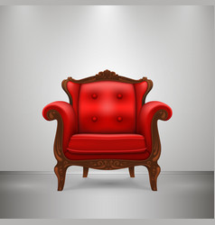 Retro chair red vector