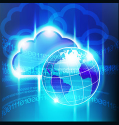big cloud world vector image