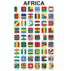 buttons with African countries flags vector image