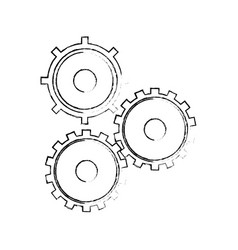 gear cog teamwork collaboration concept sketch vector image
