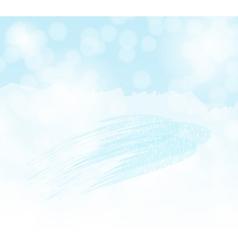 winter sky background vector image