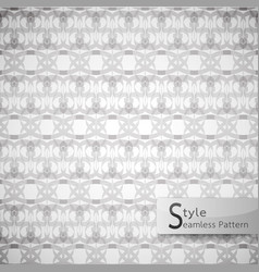 abstract seamless pattern damask lattice bow vector image vector image