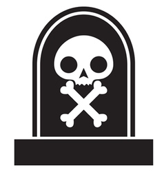 graveyard skull vector image