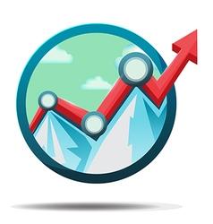 Mountain Stock market Icon Symbol vector image vector image