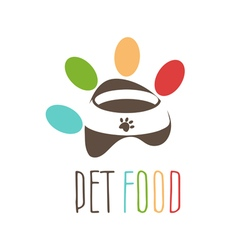 Abstract logo for pets theme Pets bowl in the vector image vector image