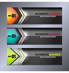 Banner Business design vector image vector image