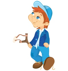 naughty boy cartoon vector image