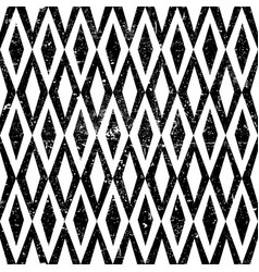 seamless vintage rhombus pattern with grunge vector image vector image