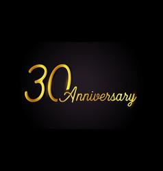 30 anniversary logo concept 30th years birthday vector image