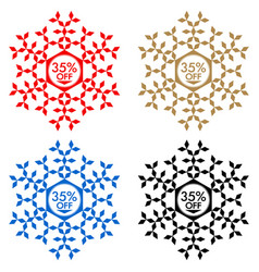 35 off discount sticker snowflake 35 off sale vector image