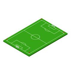 3d isometric football soccer field vector image