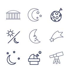 9 astronomy icons vector