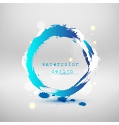 abstract blue circle vector image vector image