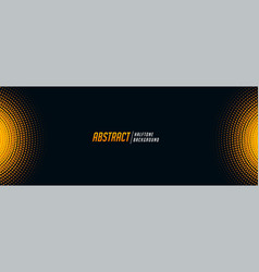 Abstract halftone banner in black and yellow shade vector