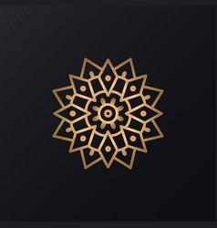 abstract mandala ornament vector image
