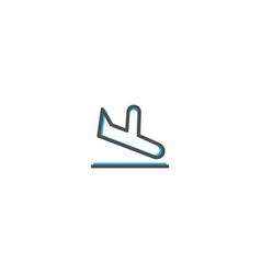 Arrivals icon design transportation icon design vector