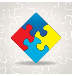 Autism Puzzle Square vector image