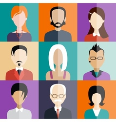 Avatar flat design icons People vector image vector image