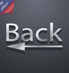 Back Arrow icon symbol 3D style Trendy modern vector