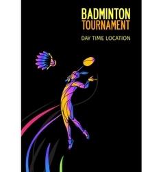 Badminton sport invitation poster or flyer vector