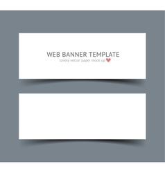 Banners with shadows material design vector
