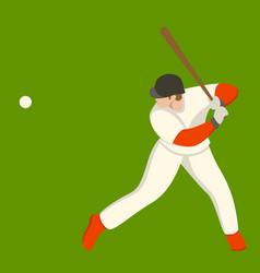 baseball player flat style vector image