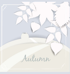 beautiful autumn landscape and leaves isolated vector image