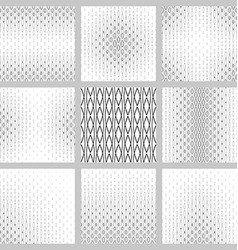 Black and white curved pattern design set vector image